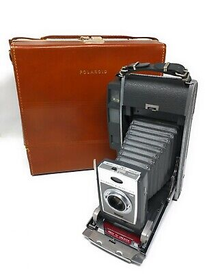 Vintage Polaroid Land Camera Model 900 Electric Eye w/ All Accessories &