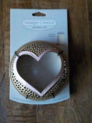 Yankee Candle Heart Gold  Illuma Lid - New Pink Valentine ()