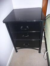 Gloss Black Bedside Table/Chest Drawers Rangeville Toowoomba City Preview