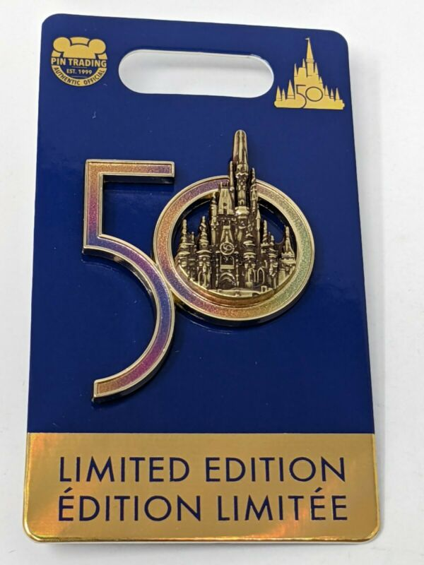 WDW 50th Anniversary Cinderella Castle Walt Disney World LE Pin