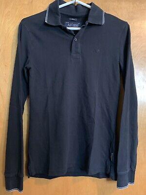 Armani Jeans Long Sleeve Shirt Mens Size XS Slim EUC