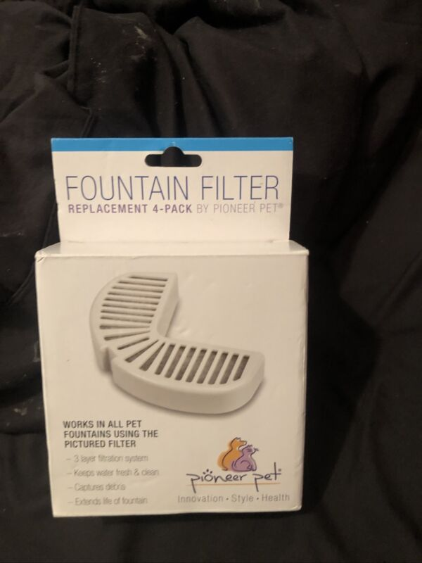 Pioneer Pet Fountain Filter 4 Pack Replacement 3014 NEW