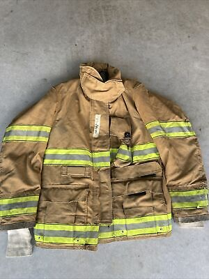 Firefighter Globe Turnout Bunker Coat 42x32 Gx-7 2000 No Cut Out