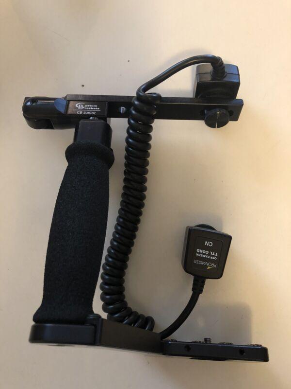 CB custom brackets, CB Junior with pro master off-camera TTL chord CN