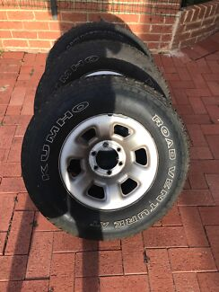 4x rims and tyres