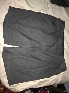 Grey school shorts