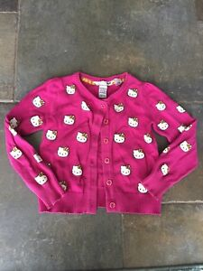 Hello Kitty Cardigan Sweater, Girls Sz 2-4