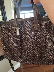 Excellent condition snake skin print Coach purse
