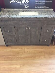"48"" Vanity with granite top and sink"