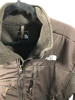 The North Face Mens Full-Zip Brown Denali Fleece Jacket Sz Large Free Shipping