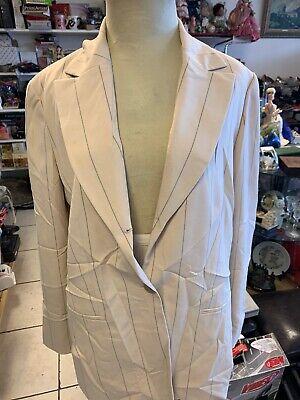 Anne Klein II Beige -Striped- Pant Suit Women's size 16  See description