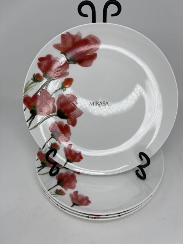 "Mikasa Keira Bone China Dinner Plates - Set of 4 - 10 3/8"" - New"
