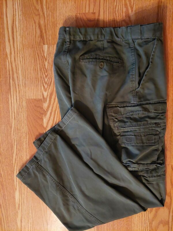 BOY SCOUTS OF AMERICA GREEN CARGO PANTS COTTON BLEND ADAPTABLE 31 X 32