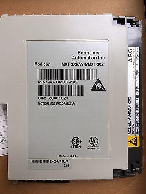 Modicon Schneider Automation Mot-202 As-bmot-202 Motion Module Encdrrslvr New