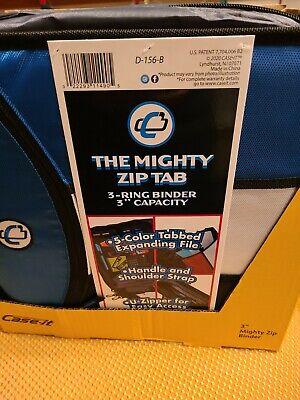 Case It The Mighty Zip Tab 3-ring Binder Original U-zipper Pockets New Blue