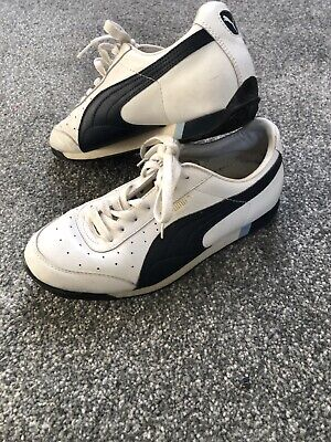 Vintage Puma Nemus Trainers Navy Blue And White Size 6