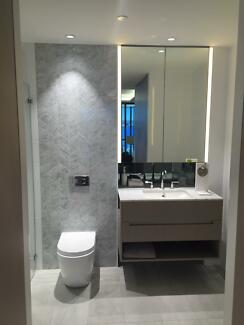 bathroom vanity overhead mirror marble yagoona bankstown area
