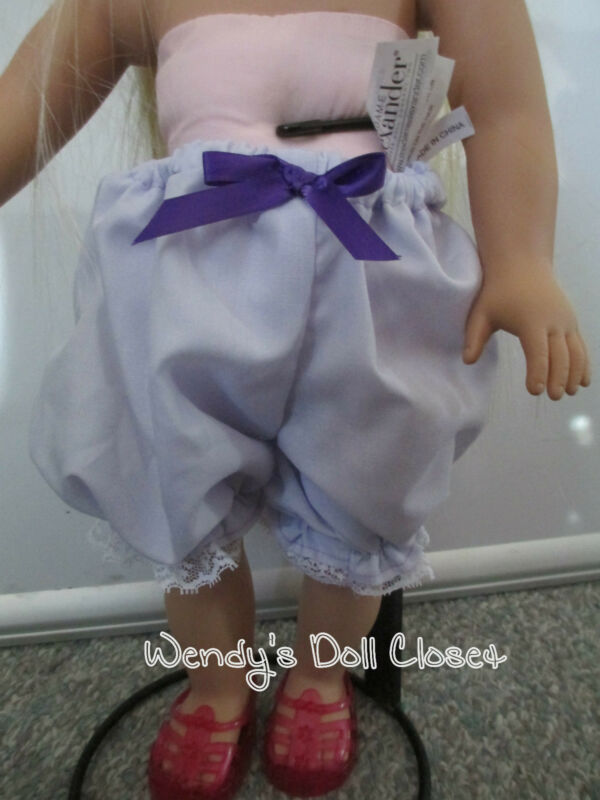 18 Inch Doll Clothes Handmade * Bloomers~Lavender  *