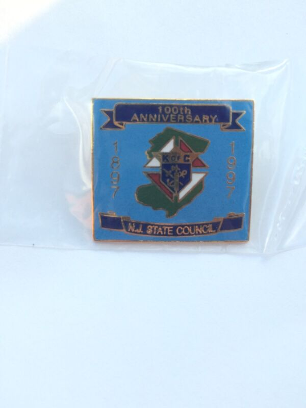 Knights of Columbus K of C N.J. State Council 100th 1997 Tie Tack Lapel Pin