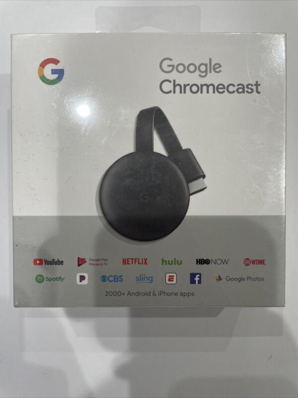 Google Chromecast 3rd Generation Gen Digital HDMI Media Streaming Brand NEW