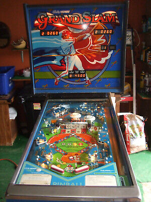 "1983 RECONDITIONED BALLY MIDWAY ""GRAND SLAM"" 2PLAYER PINBALL MACHINE 1ST VERSION"