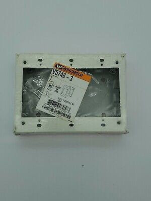 Wiremold V5748-3 3-gang Switch Receptacle Box Ivory