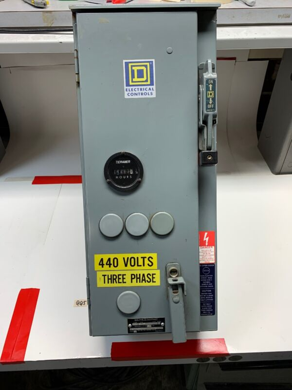 Square D 30 AMP Combination Motor Starter Disconnect Switch Type SBA33