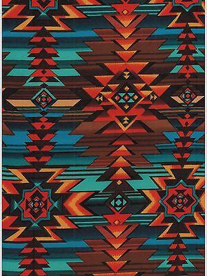 Bright Aztec Western Cowboy Silk Wild Rag Bandana Buckaroo Scarf