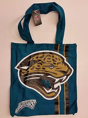 Nfl Jacksonville Jaguars Reusable Canvas Shopping Tote  New