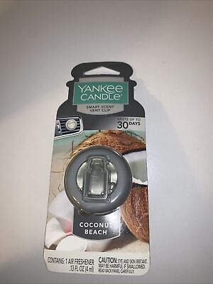Yankee Candle Air Freshener-Smart Scent Vent Clip Car & Home -COCONUT BEACH-NEW*