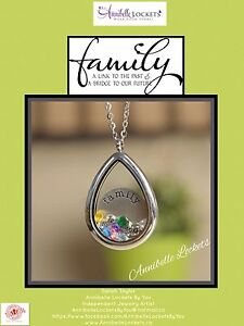 Floating charm glass Lockets personalized for you!