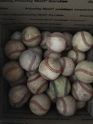 30 Baseballs Leather . Average condition. See pictures for type and brand
