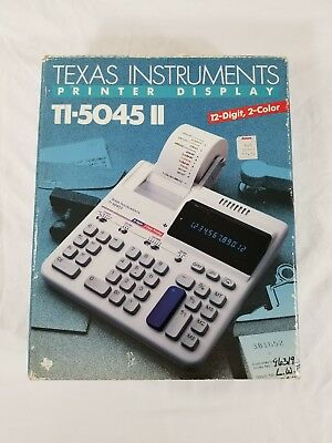 Texas Instruments Ti-5045 Ii Desk Calculator Box Instructions Paper Roll Ac