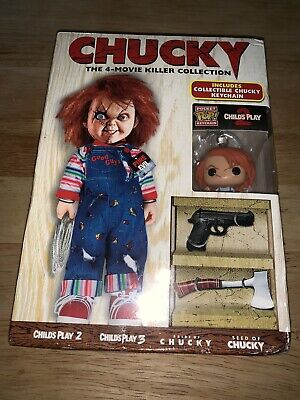 New CHUCKY-4 FILM DVD COLLECTION + LIMITED EDITION CHUCKY POP KEYCHAIN! - Music Films Halloween