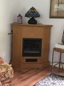 Electric Fireplace (storage unit top, sides) 40.