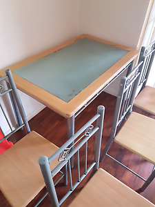 Moving Sale ASAP: Glass Top Dining Table w 4 Chairs Hurstville Hurstville Area Preview