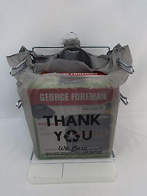 1000 Qty. Thank You Grey Eco Friendly Plastic Shopping T-shirt Bags 11.5x6x21