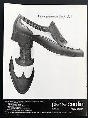 1980 Vintage Print Ad PIERRE CARDIN Shoes Image Men's Foot Fashion Image