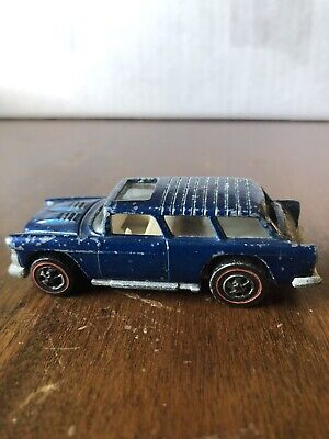 HOT WHEELS REDLINE 1969 CLASSIC NOMAD- Blue - Very Used