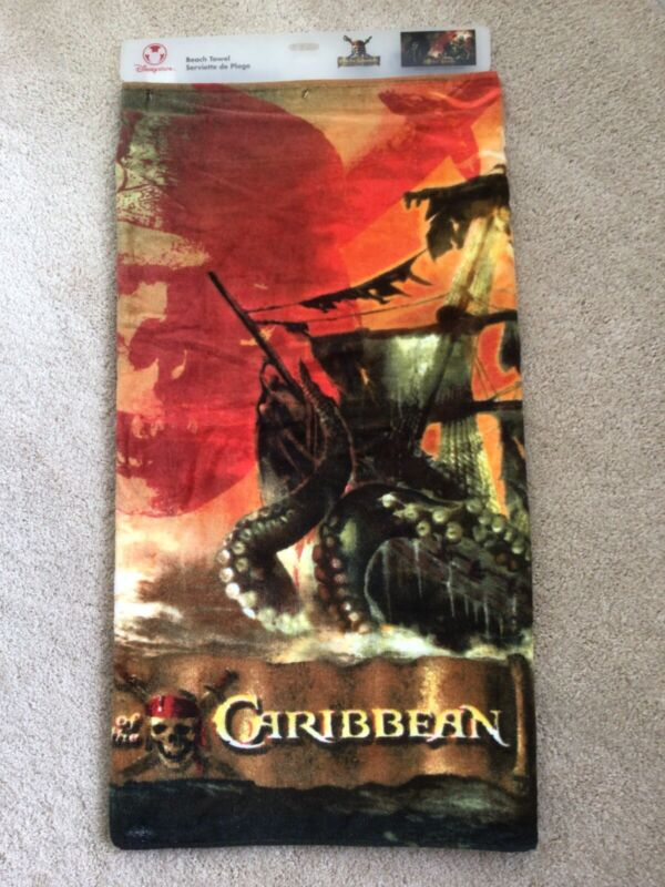 Brand New With Tag**Vintage Disney Pirates of the Caribbean Beach Towel