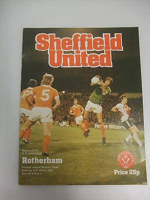 Sheffield United v Rotherham United Div3 - 15th March 1980