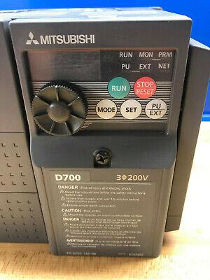 5hp Mitsubishi Spindle Drive Vfd D700 New
