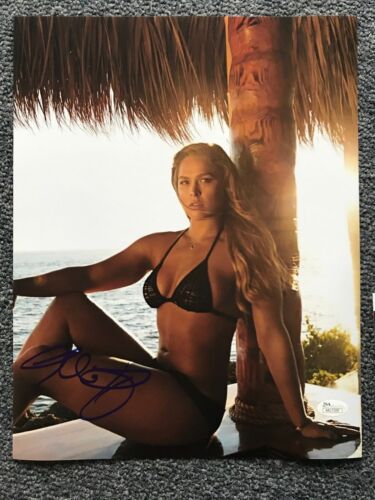 Swimsuit Fast Furious Ronda Rousey Autographed Signed 11x14 Photo JSA COA #1