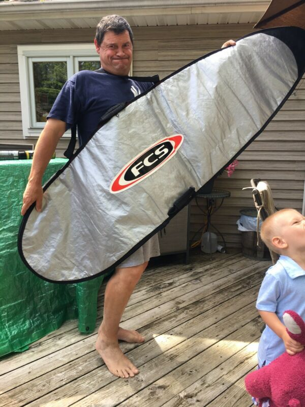 FCS Surfboard Bag Zippered Preowned 6 '3""