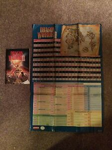 Rare Dragon Warrior 2,3 and 4 Maps with Manuals London Ontario image 3