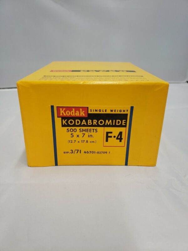 Kodak F-4 Single Weight Photographic Paper 500 SHEETS 5 x 7 in EXPIRED Bromide