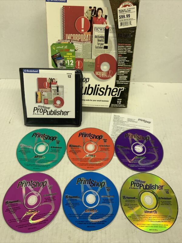 The Print Shop Pro Publisher Deluxe Used