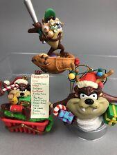 Taz Christmas Ornament Lot of 3 Looney Tasmanian Devil ...