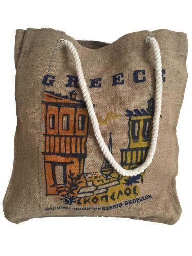 Vintage Greek Folk Art Souvenir Handbag
