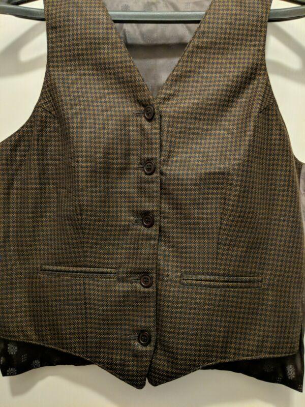 Carl Meyers Copper Navy Saddleseat Vest size M